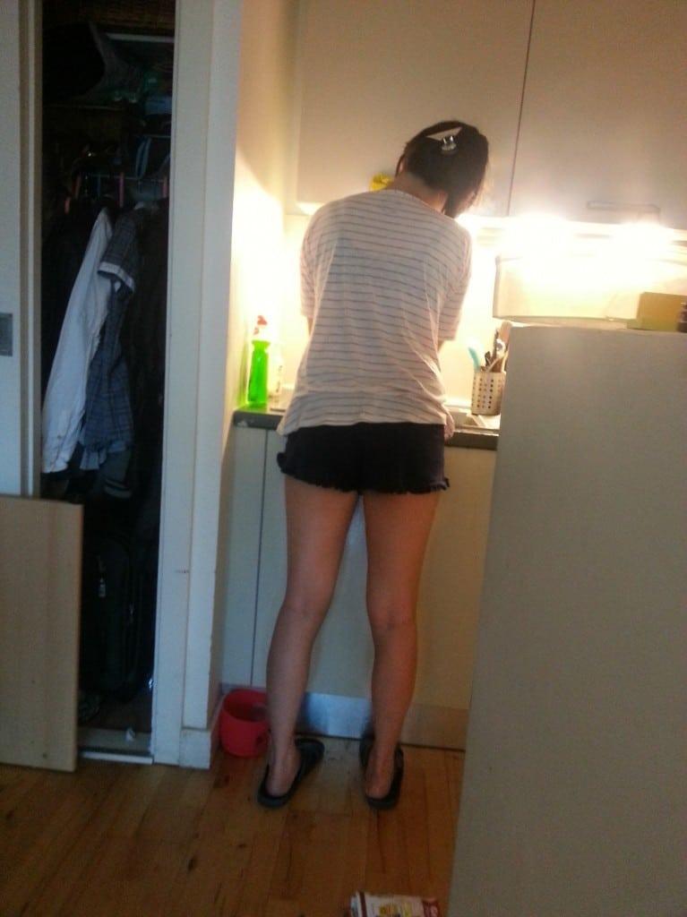 老婆在洗碗