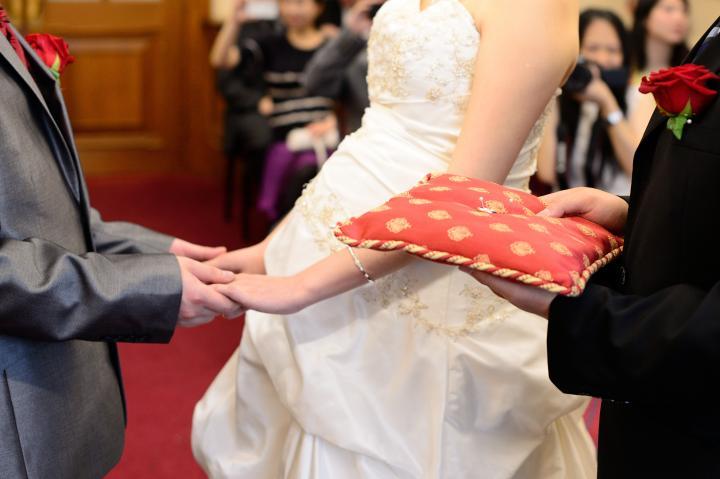 在教堂结婚